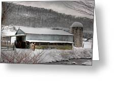 The Farm By The Creek Greeting Card