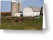The Farm In Autumn Greeting Card