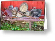 The Farmer's Old Wheelbarrow Greeting Card