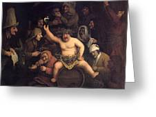 The Feast Of Bacchus, 1654 Greeting Card