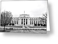 The Federal Reserve  Greeting Card by Olivier Le Queinec