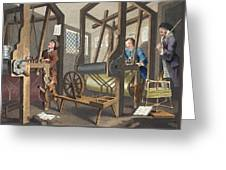 The Fellow Prentices At Their Looms Greeting Card