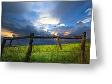 The Fence At Cades Cove Greeting Card