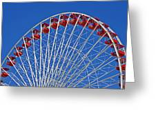 The Ferris Wheel Chicago Greeting Card