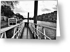 The Ferry Terminal York Greeting Card