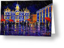 The Festival Of Lights In Lyon France Greeting Card