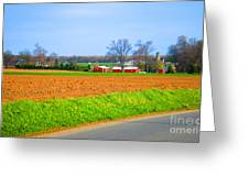The Field Is Plowed 2014 Greeting Card