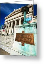 The Field Museum Sign In Chicago Greeting Card