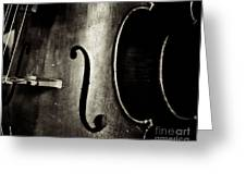 The Figure Of A Cello Greeting Card