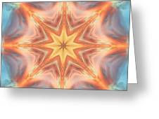 The Fire From Within Mandala Greeting Card
