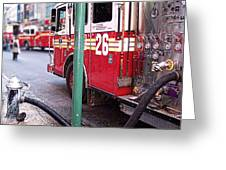 The Fire Truck Greeting Card