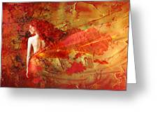 The Fire Within Greeting Card by Jacky Gerritsen