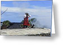 The Firing Of The Cannon 2 Greeting Card