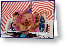 The First Birthday Cake Greeting Card