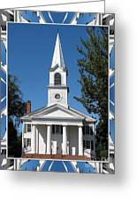The First Church Of Evans In New York State Greeting Card