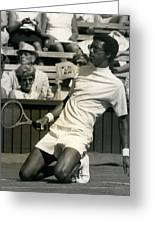 The First Dai Of The Wimbeddon Tennis Tournament Arthur Greeting Card