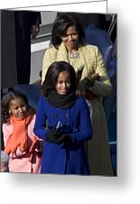 The First Lady And Daughters Greeting Card by JP Tripp