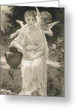 The First Whisper Of Love After Bouguereau Greeting Card
