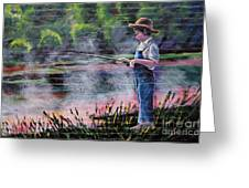 The Fishing Boy Greeting Card