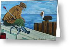 The Fishing Buddies Greeting Card