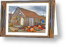 The Fishing Village Scene Greeting Card