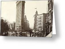 The Flatiron Building In Ny Greeting Card
