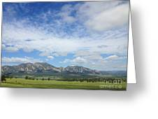 The Flatirons In Spring Greeting Card by Kate Avery