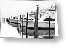 The Fleet Awaits - Outer Banks Greeting Card