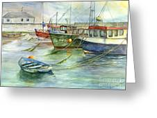 The Fleet Is In At Dingle Greeting Card