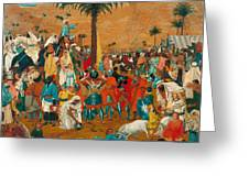 The Flight Out Of Egypt Greeting Card