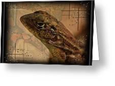 The Florida Lizard Greeting Card