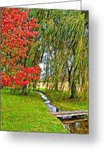 The Flow Of Autumn Greeting Card