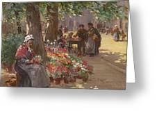 The Flower Seller Greeting Card