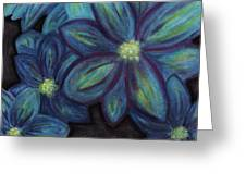 The Flowers Are Blue Greeting Card