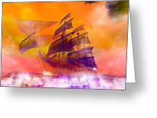 The Flying Dutchman Ghost Ship Greeting Card