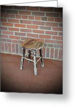 The Foot Stool Greeting Card