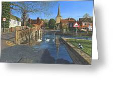 The Ford At Eynsford Kent Greeting Card