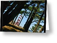 The Forest Of The Golden Gate Greeting Card