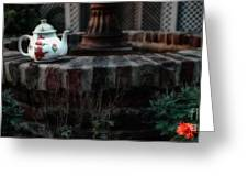 The Fountain And The Teapot Greeting Card