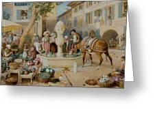 The Fountain At Toulon Greeting Card