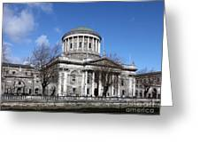 The Four Courts North Quays Dublin Greeting Card