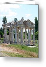 The Four Roman Columns Of The Ceremonial Gateway  Greeting Card