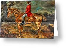 The Fox Hunt With Light Antique Store Mural Griffin Georgia Art Greeting Card