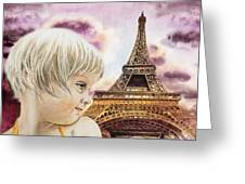 The French Girl Greeting Card
