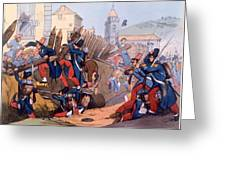The French Legion Storming A Carlist Greeting Card
