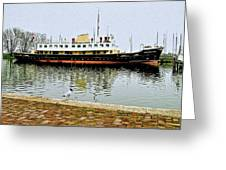 The Friesland In Enkhuizen Harbor-netherlands Greeting Card