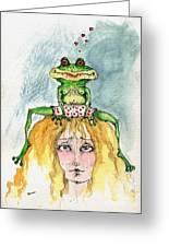 The Frog And The Princess Greeting Card