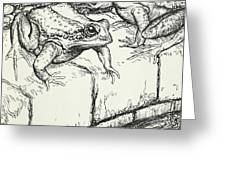 The Frogs And The Well Greeting Card