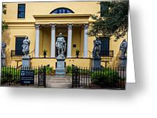 The Front Of The Telfair Museum Of Art Greeting Card