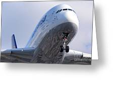 The Front Office Lufthansa Airbus A-380 Greeting Card